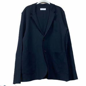 Everlane Black wool cardigan blazer open career